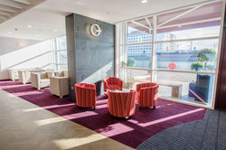 Light filled lounges for students to relax in