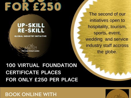 100 for £250 Certificate Course Places Launched, Offering Subsidised Training for our Industry.