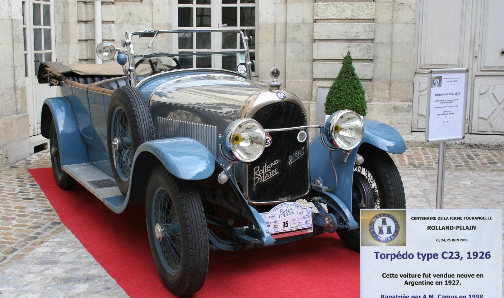 Torpédo C3 1926 Rolland Pilain