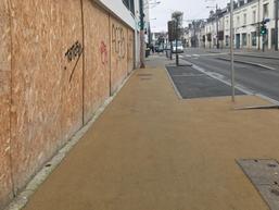 Au 31 avenue Maginot, la réfection du trottoir est complètement terminée