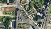 Création d'un espace vert au carrefour de l'avenue de la Salle et de la rue JB Dupré.
