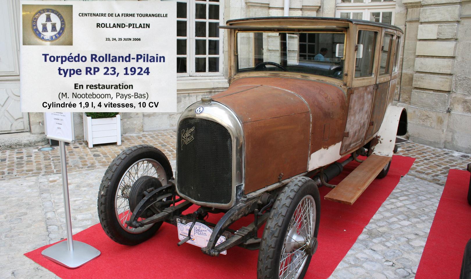 Torpédo RP23 1924 Rolland Pilain