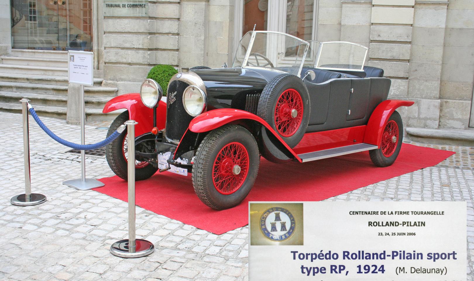 Torpédo sport 1924 Rolland Pilain