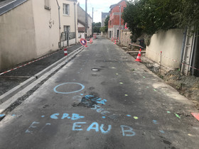 Évolution des travaux de rénovation de la rue de Vildé.