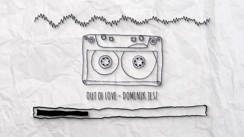 Musik Audio Visualizer mit retro Kasette