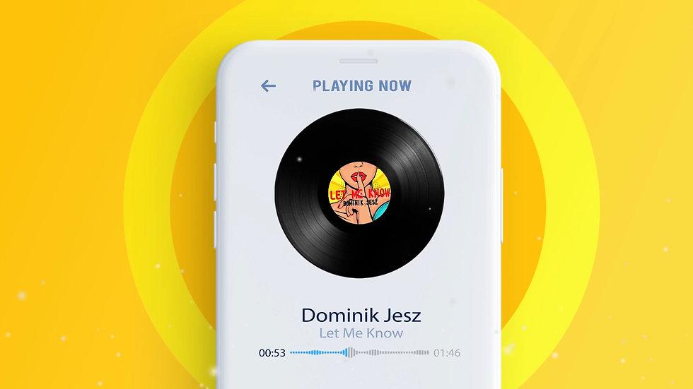 Musik Audio Visualizer mit Schallplatte und Handy