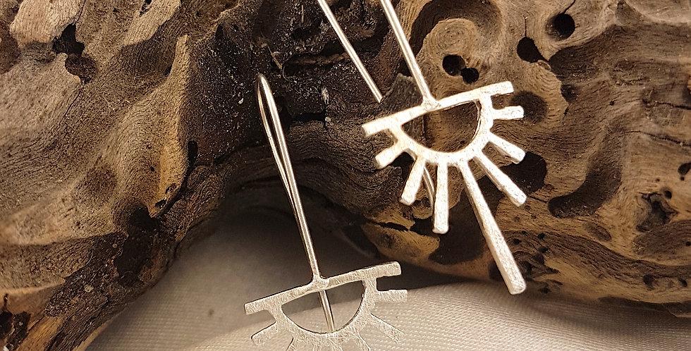 Sterling silver Nazca earrings