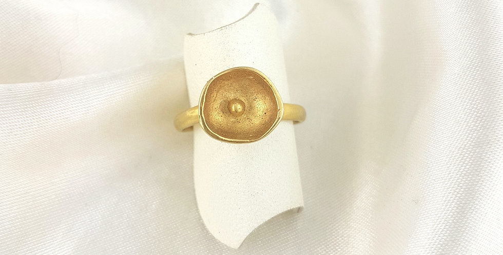 Gold pod ring