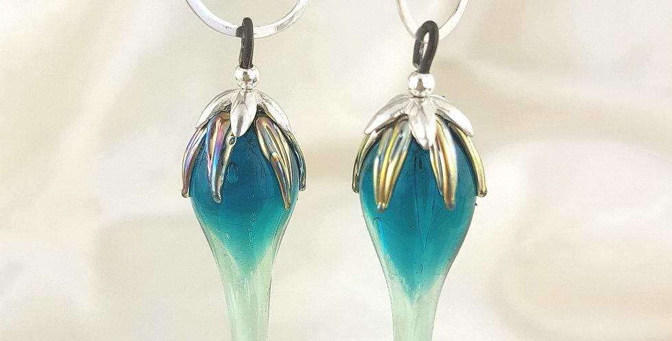 Dark emerald drop earrings
