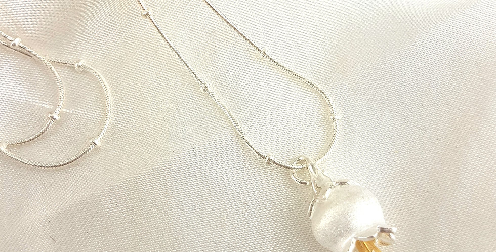 Sterling silver bluebell pendant with chain