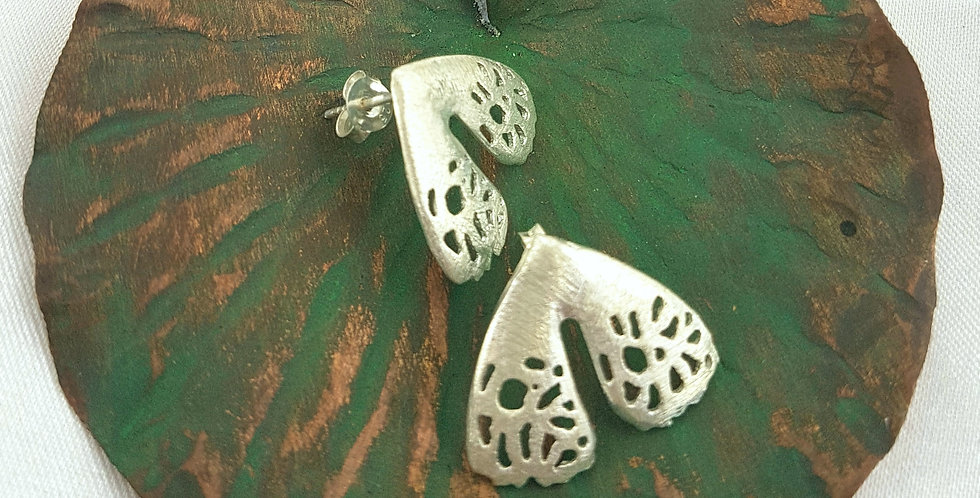 Sterling silver seedpod earrings