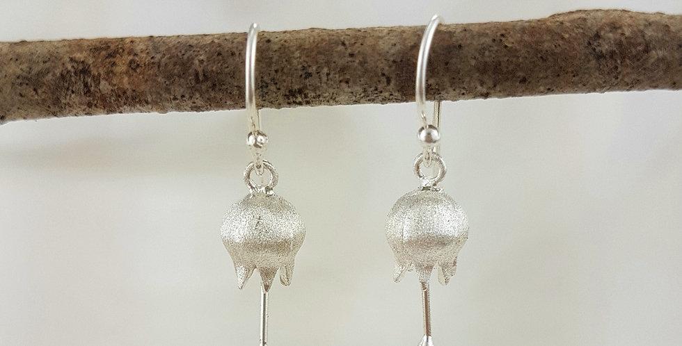 Sterling silver bluebell earrings