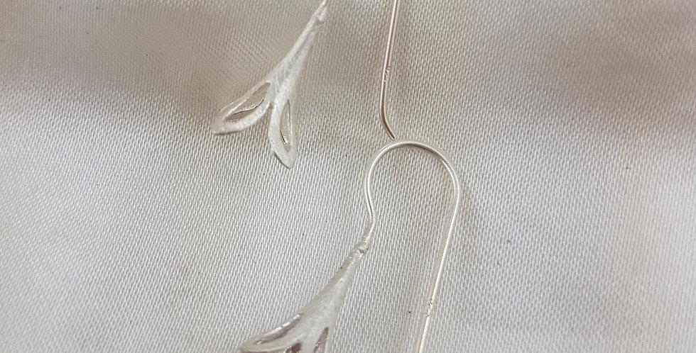 Sterling silver bell flower earrings
