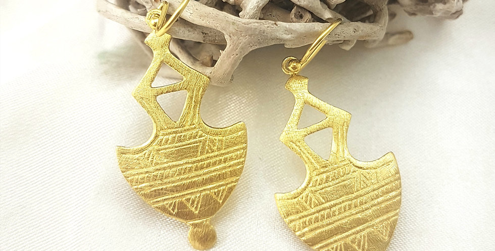 Gold  Morrocan 2  Earrings