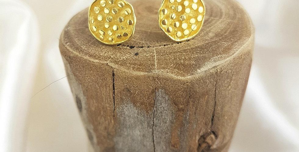 Gold lotus pod earrings