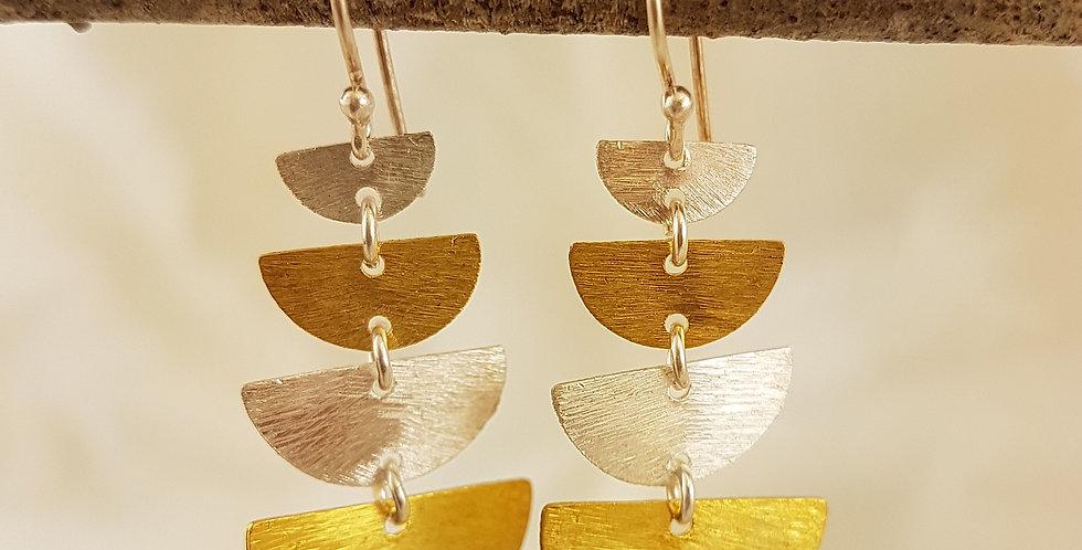 Gold & sterling silver Goddess Ishtar earrings