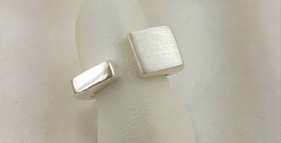 Solid sterling silver contemporary ring