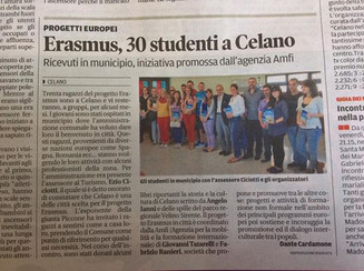 Our Erasmus Students invited at Celano City Council