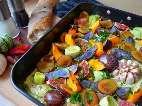 Geröstetes Ofengemüse mit Feigen & Zwetschgen