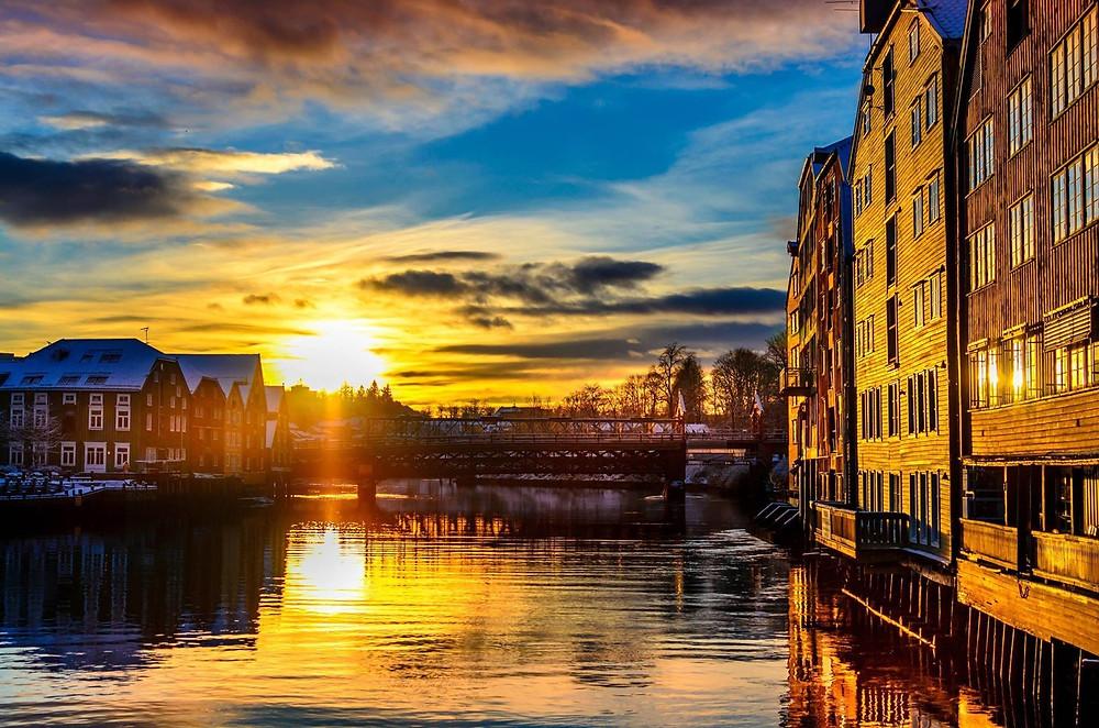 Solnedgang, Trondheim