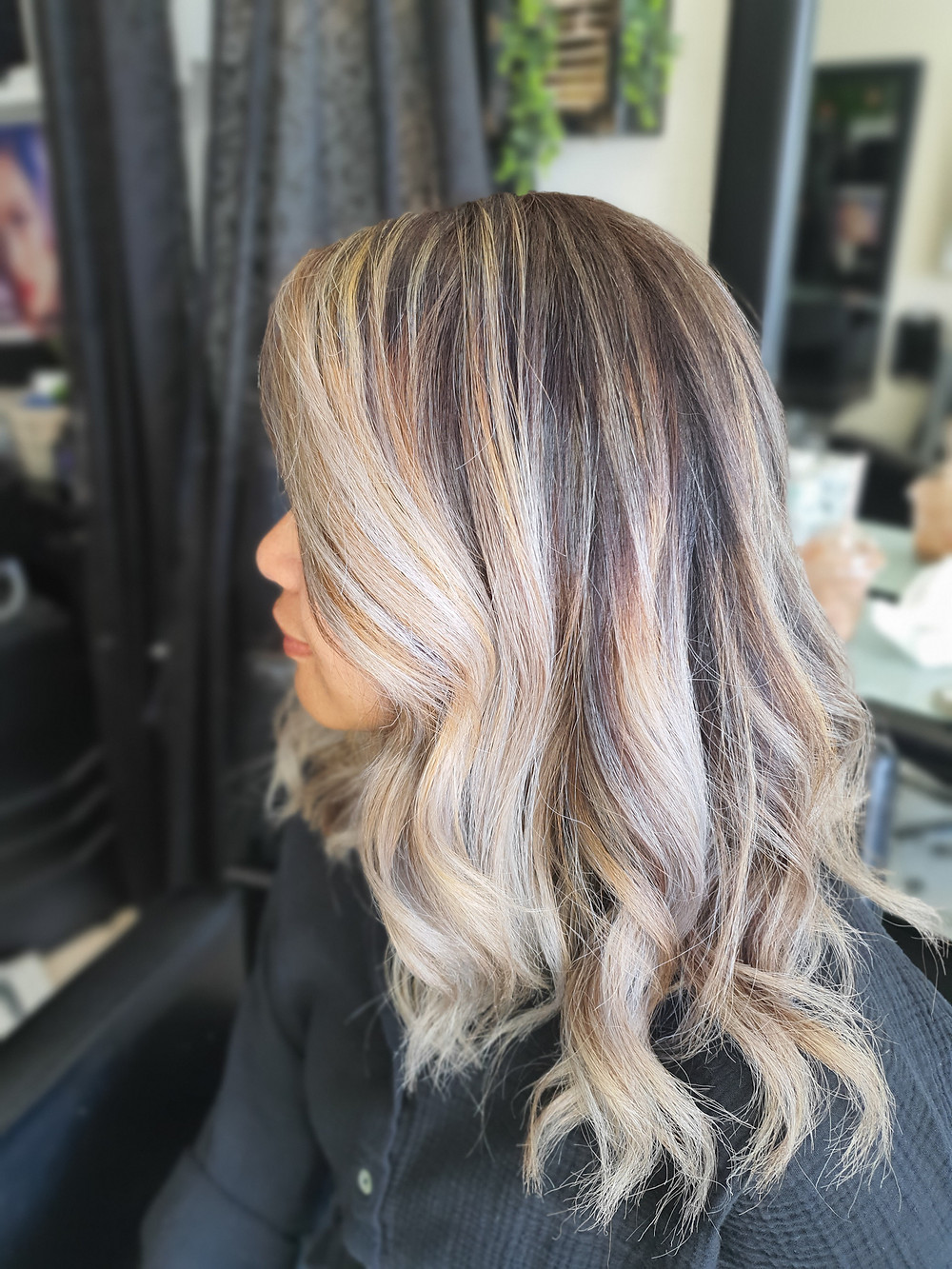 An alternate balayage result using Colour Melt Technique