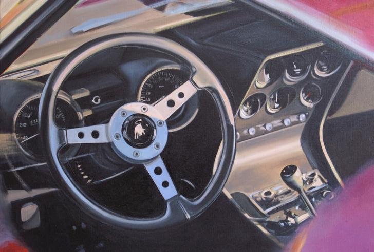 "détail de ""Lamborghini Miura"""