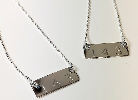 Sterling Silver 143 Necklace