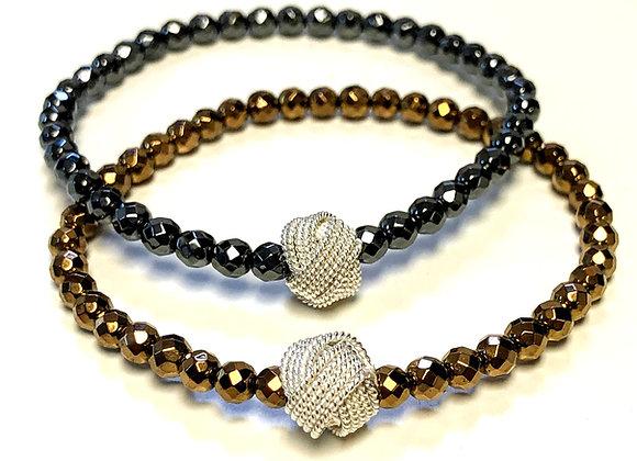 Hematite Knot Bracelet