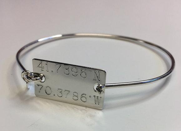 Personalized Sterling Silver Bangle Bracelet
