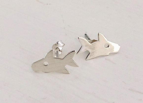 Flat Shark Earring
