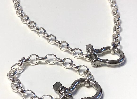 Sterling Silver Shackle Necklace