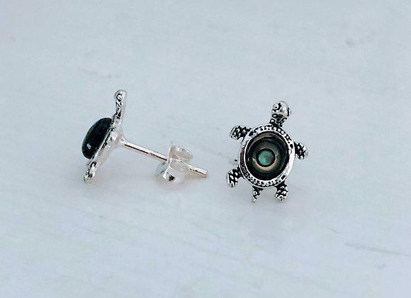 Abalone Turtle Earrings