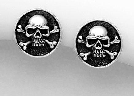 Sterling Silver Skull Earring
