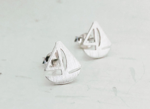 Flat Sailboat Earring