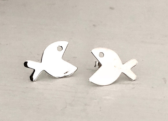 Flat Fish Earring