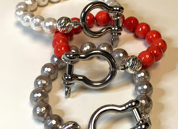 Gemstone Shackle Bracelet