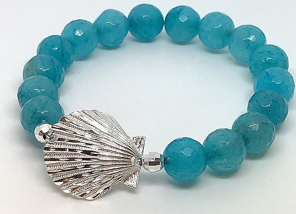 Scallop Gemstone Bracelet