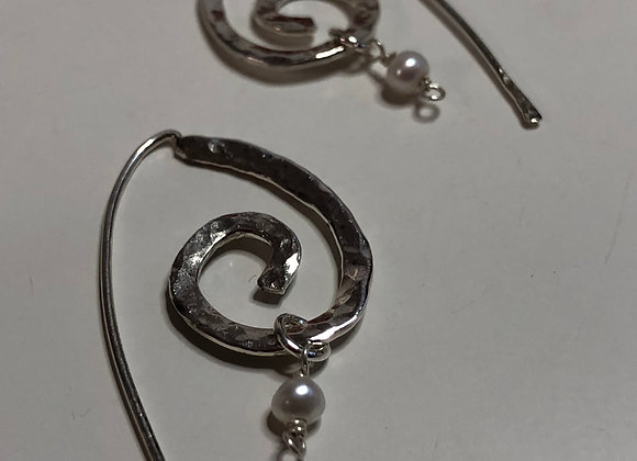 Sterling Silver Wave Earrings