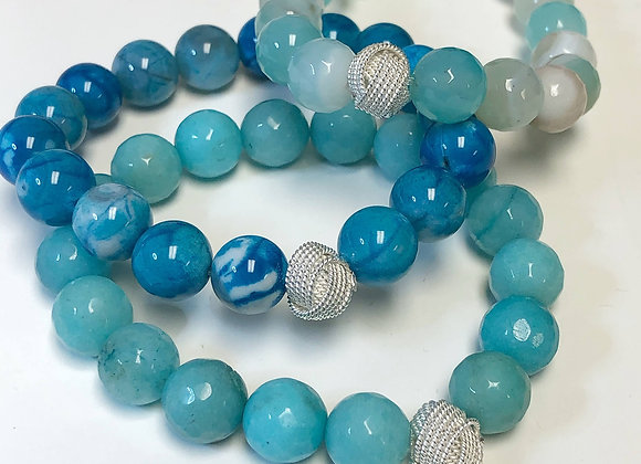 Gemstone Knot Bracelet