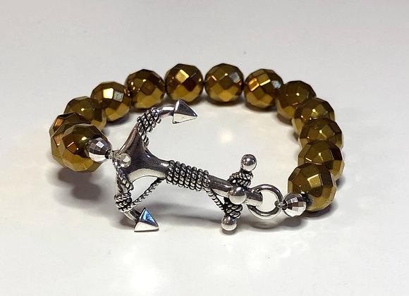 Anchor Gemstone Bracelet