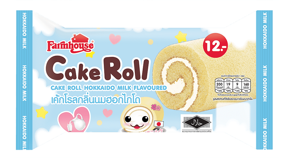 Farmhouse Cake Roll Hokkaido Milk Flavored 60.