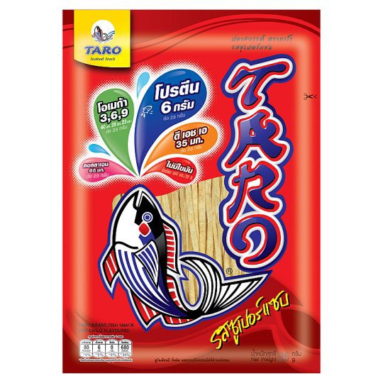 ทาโร ปลาสวรรค์ รสซูเปอร์แซบ 25 กรัม