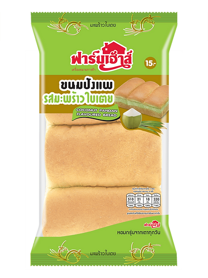 Farmhouse Coconut - Pandan Flavoured Bread 140 g.