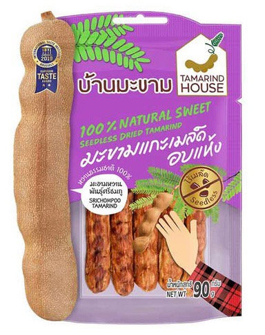 Tamarind House บ้านมะขาม มะขามแกะเมล็ดอบแห้ง 35 กรัม