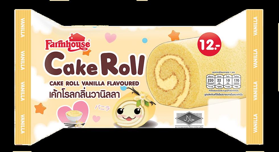 Farmhouse Cake Roll Vanilla Flavoured 60.