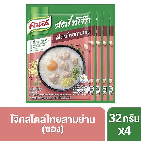 คนอร์ สตรีทโจ๊ก สไตล์ไทยสามย่าน แบบซอง 32 กรัม x4 Knorr Street Jok Style Thai