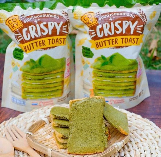 Coky ขนมปังเนยฟูกรอบ รสชาเขียว