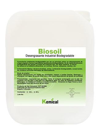 BIOSOIL - Desengrasante Industrial ecológico