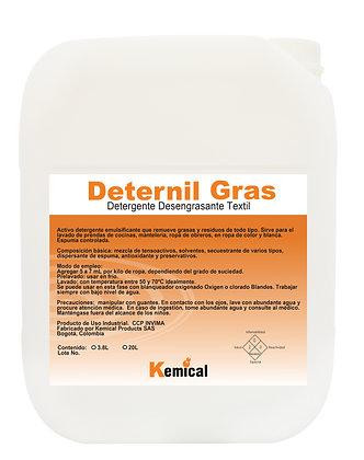 DETERNIL GRAS - Detergente Desengrasante para Textiles