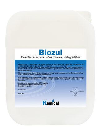 BIOZUL - Desinfectante baños moviles